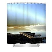 Lake Pend D'oreille Fantasy Shower Curtain