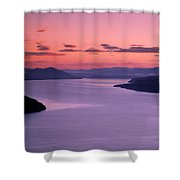 Lake Pend Oreille Sunset Shower Curtain