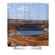 Lake Powell And Glen Canyon Dam Shower Curtain