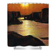 Lake Powell At Sunset Shower Curtain