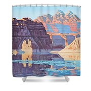 Lake Powell From Shore  Shower Curtain