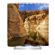 Lake Powell Stillness Shower Curtain
