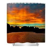 Lake Powell Sunrise Shower Curtain