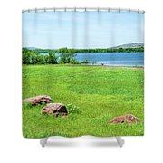 Lake Quanah Parker -  Wichita Mountains - Oklahoma Shower Curtain