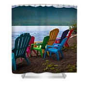Lake Quinault Chairs Shower Curtain