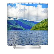 Lake Quinault Washington Shower Curtain