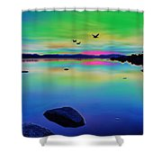 Lake Reflections 2 Shower Curtain