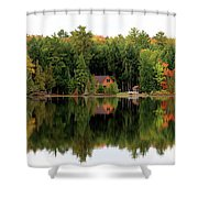 Lake Reflections Panorama 4370 4371 Shower Curtain