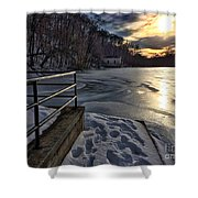 Lake Roland Sunset Shower Curtain