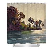 Lake Scene Shower Curtain