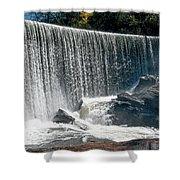 Lake Sequoyah Dam Falls - Highlands, North Carolina Shower Curtain