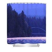 Lake Shasta Bridge Shower Curtain
