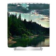 Lake Shasta Painterly Shower Curtain