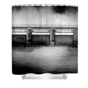 Lake Shelbyville Dam Shower Curtain
