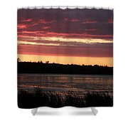 Lake Sunset Shower Curtain