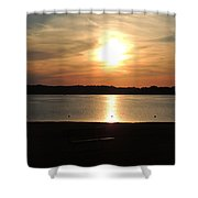 Lake Sunset-midrange Shower Curtain