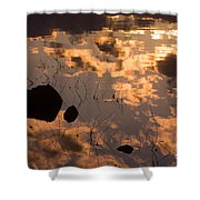 Lake Sunset Reflections Shower Curtain