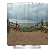 Lake Superior Access Shower Curtain
