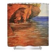 Lake Superior Cave Shower Curtain