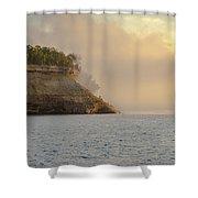 Lake Superior Fogbank Shower Curtain