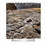Lake Superior Northern Michigan  Shower Curtain