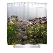 Lake Superior Shore Shower Curtain