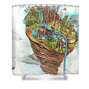 Lake Superior Watershed In Early Spring Shower Curtain
