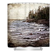 Lake Superior Waves Shower Curtain