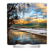 Lake Sure Shower Curtain