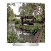 Lake Swing And Bridge Shower Curtain