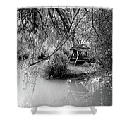Lake Swing - Black And White Shower Curtain