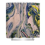 Lake Swirl 3 Shower Curtain