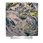 Lake Swirl 4 Shower Curtain