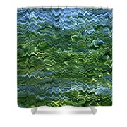 Lake Tahoe Abstract Shower Curtain