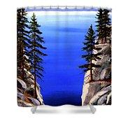 Lake Tahoe Framed Shower Curtain