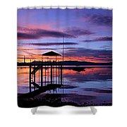 Lake Tahoe Rising Shower Curtain
