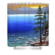 Lake Tahoe Sunrise Shower Curtain