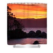 Lake Tahoe Sunset Colors Shower Curtain
