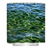 Lake Tahoe Swirls Shower Curtain