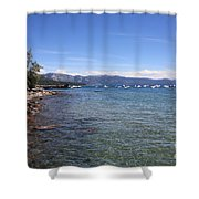 Lake Tahoe Waterscape Shower Curtain
