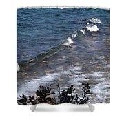 Lake Tahoe Waves Shower Curtain