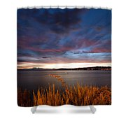 Lake Taupo Sunset Shower Curtain