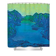 Lake Thun Shower Curtain