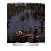 Lake Titicaca Reed Boats Shower Curtain