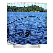 Lake Trout Fishing Shower Curtain