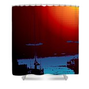 Lake Union Moorage Shower Curtain