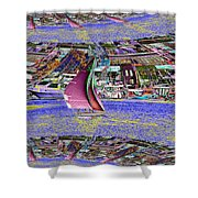 Lake Union Sail Shower Curtain
