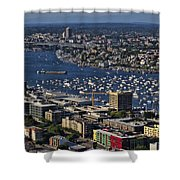 Lake Union Seattle Shower Curtain