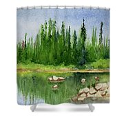 Lake View 1-2 Shower Curtain
