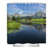 Lake Vorderer Schwendisee Shower Curtain